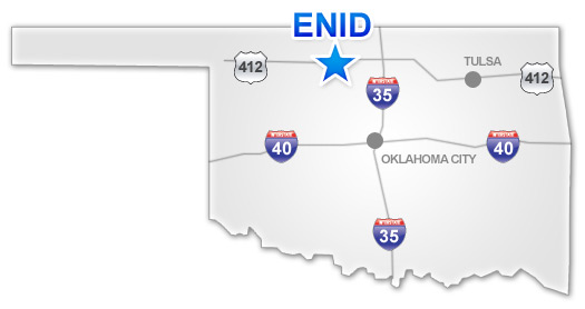Enid on an OK map